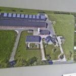 Dronefoto op canvas FilmPloeg Barneveld